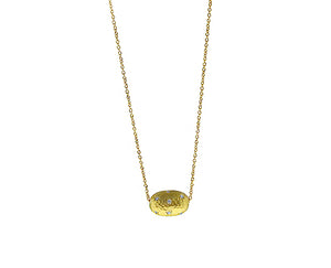 Yellow gold necklace with a nugget set with diamonds