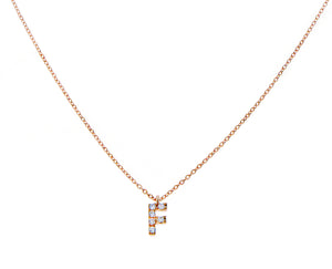 Necklace with diamond letter