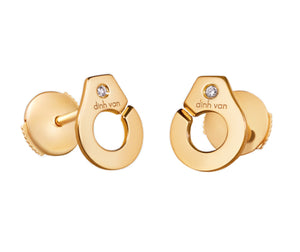 18K yellow gold earstuds menottes dinh van