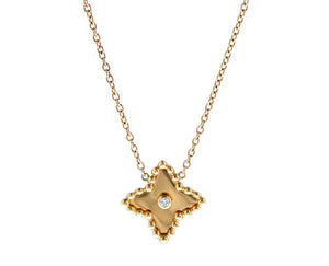 Rose gold star necklace with a diamond