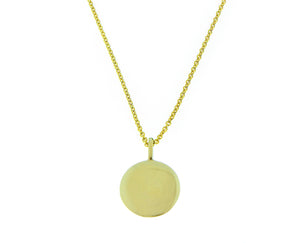 Yellow gold necklace with a coin pendant