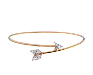 Diamond arrow cuff bracelet