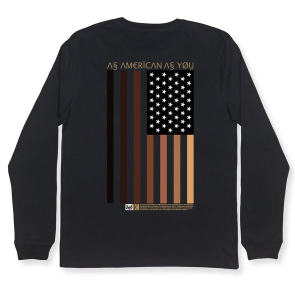 As American LS Tee Organic Cotton Tees Kreative Living SM Black