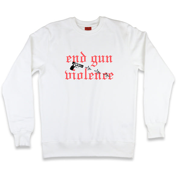 It's Not About The Gun Sweatshirt Kreative Living SM White