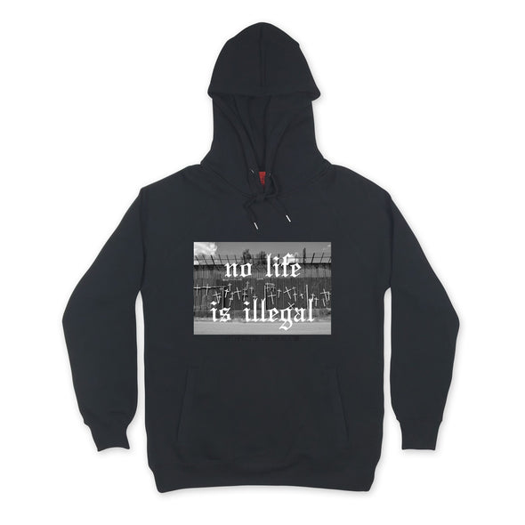 Life At The Border Hoodie sweaters Kreative Living SM Black
