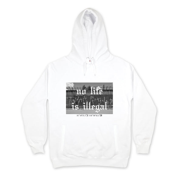Life At The Border Hoodie sweaters Kreative Living SM White