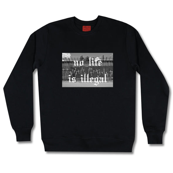 Life At The Border Sweatshirt sweaters Kreative Living SM Black
