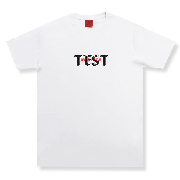 Life Is Not A Test SS Organic Tee Organic Cotton Tees Kreative Living SM