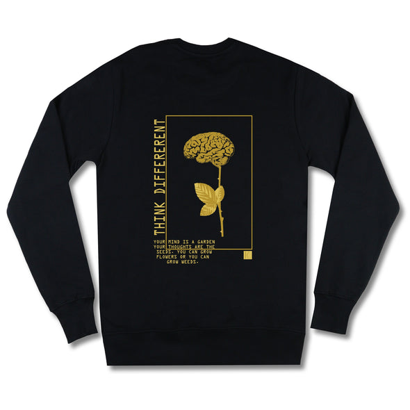 The Garden Gold Sweatshirt sweaters Kreative Living SM Black