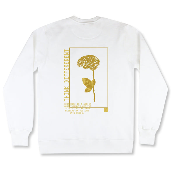 The Garden Gold Sweatshirt sweaters Kreative Living SM White