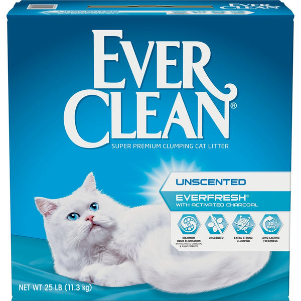 Fresh Step Ever Clean EverFresh Cat with Activated Charcoal