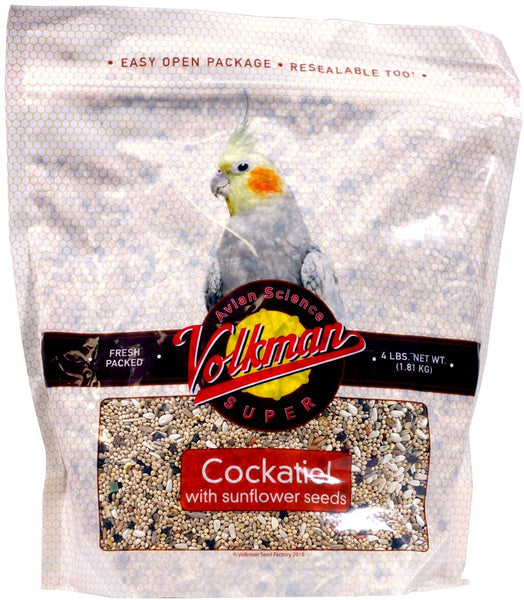 Volkman Avian Science Super Cockatiel with Sunflower Seeds