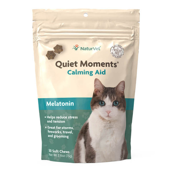 NaturVet Quiet Moments Calming Aid Soft Chews Plus Melatonin