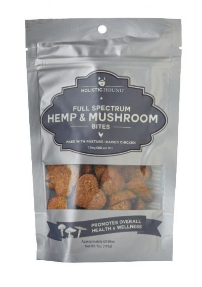 Holistic Hound Chicken Full Spectrum Hemp & Mushroom Bites with CBD