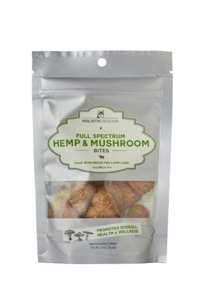 Holistic Hound Lamb Liver Full Spectrum Hemp & Mushroom Bites with CBD