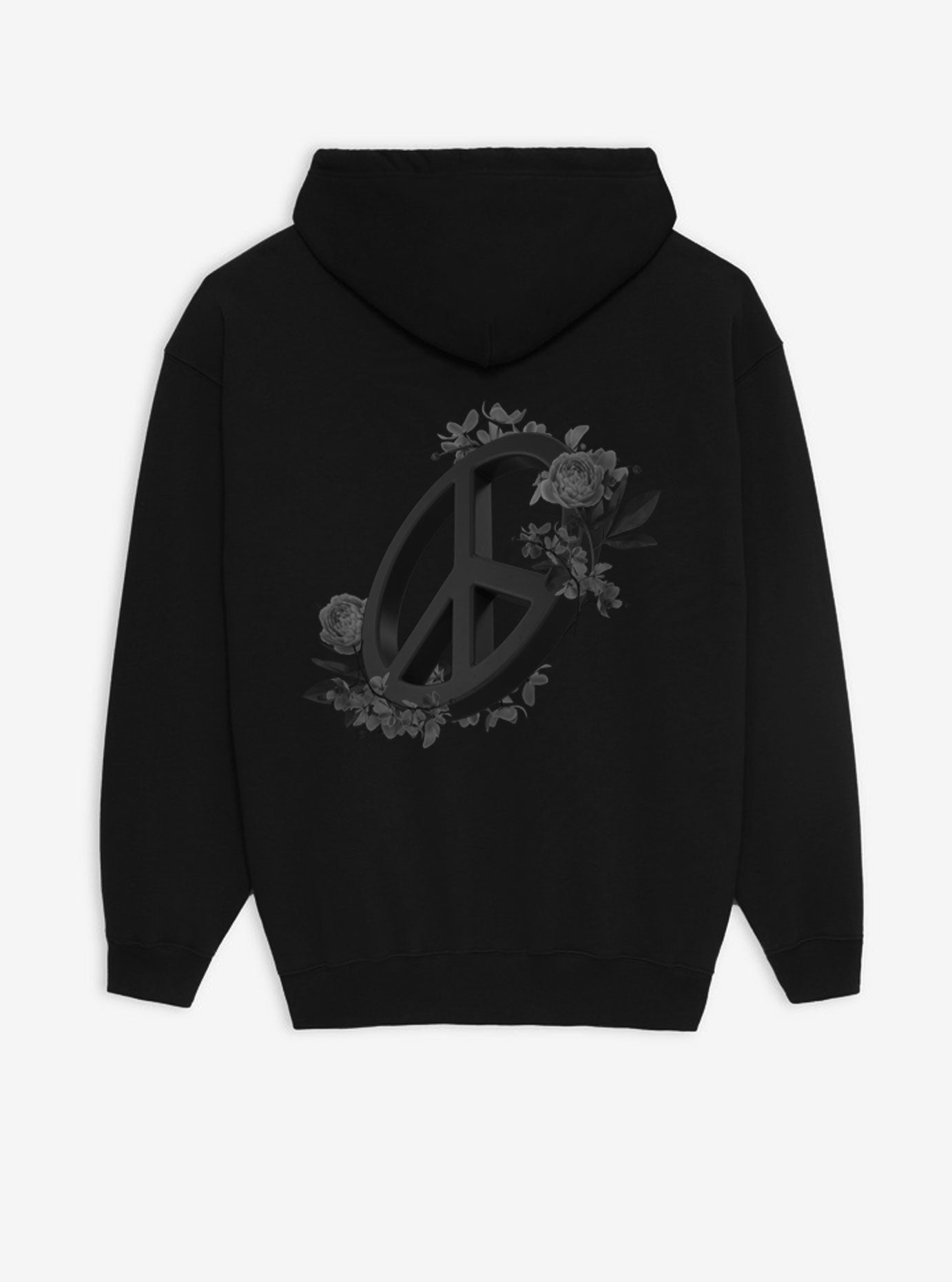 PEACE HOODIE - BLACK - SOLD OUT - blupstore