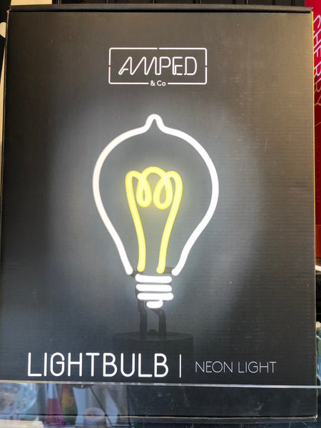 AMPED Neon Sign - Lightbulb