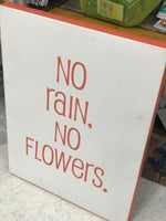 Stretched Canvas Wall Art - No Rain No Flowers