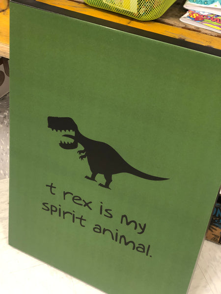 Stretched Canvas Wall Art - T Rex