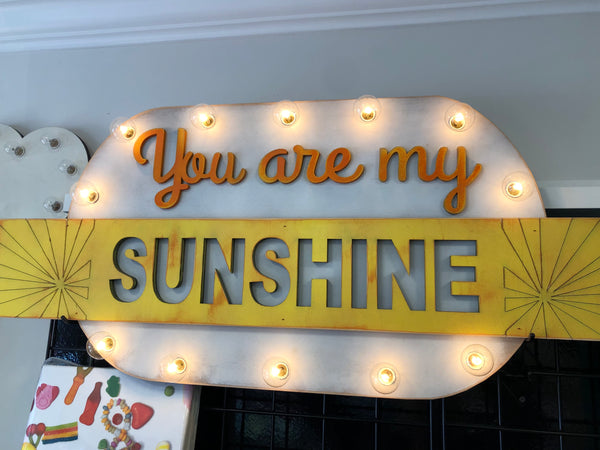 You Are My Sunshine Marquee Wall Art