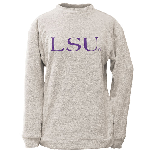 LSU Tigers Woolly Threads Pullover Sweatshirt Natural
