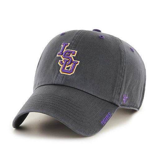 LSU Tigers 47 Brand Interlock Ice Clean Up Adjustable Hat - Charcoal