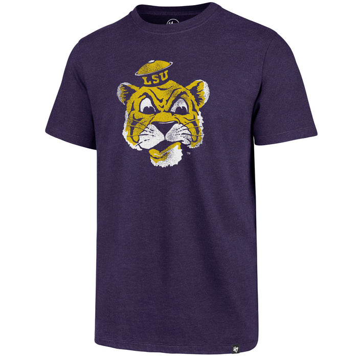 47 Brand LSU Tigers Retro Beanie Mike Club T-Shirt - Purple