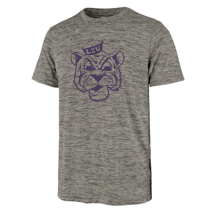 47 Brand LSU Tigers College Vault Retro Beanie Mike Impact Performance T-Shirt - Grey