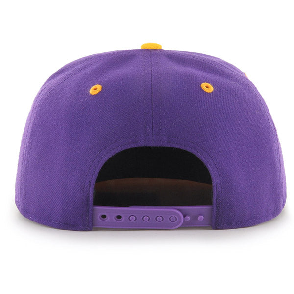 LSU Tigers 47 Brand Round Vault Tiger 47 Captain Youth Snapback Hat  - Purple