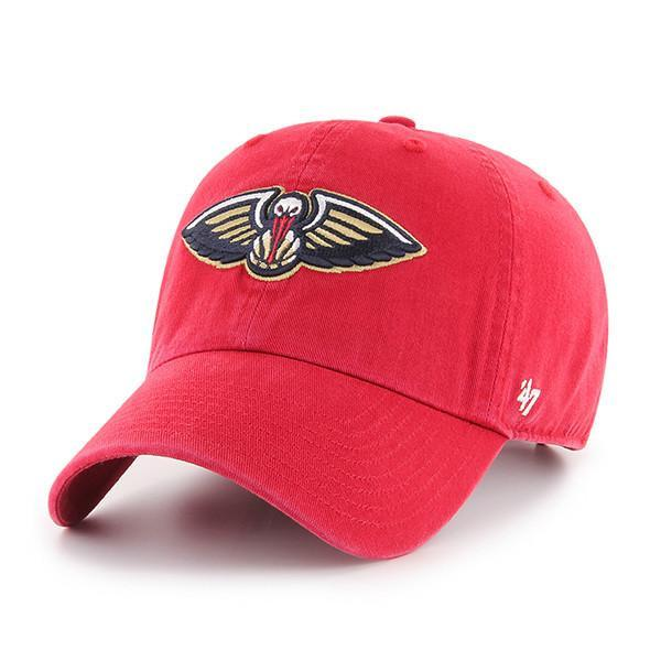 New Orleans Pelicans 47 Brand Clean Up Adjustable Hat - Red