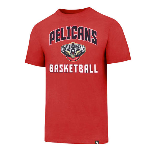 New Orleans Pelicans 47 Brand Game Changer Super Rival T-Shirt - Red