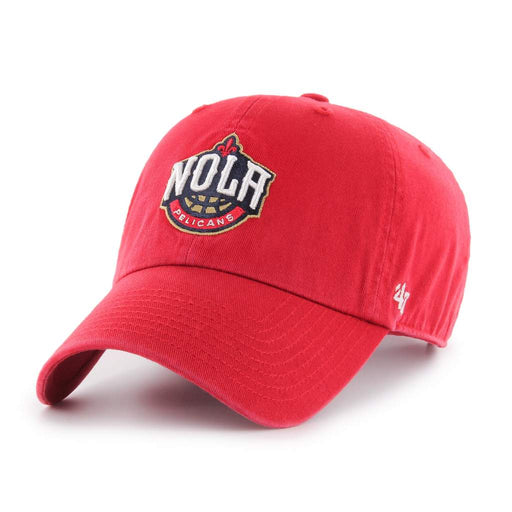 New Orleans Pelicans 47 Brand NOLA Clean Up Adjustable Hat - Red