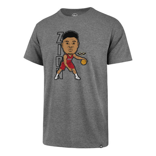 New Orleans Pelicans 47 Brand Zion Williamson NBA Basketball Club T-Shirt - Grey