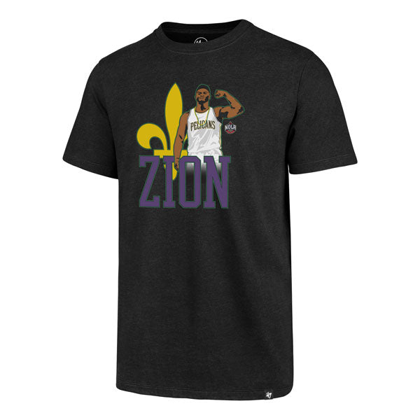 New Orleans Pelicans 47 Brand Zion Williamson Nba Basketball Club T Shirt Black