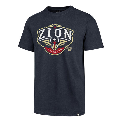 New Orleans Pelicans 47 Brand Zion Williamson NBA Basketball Club T-Shirt - Navy