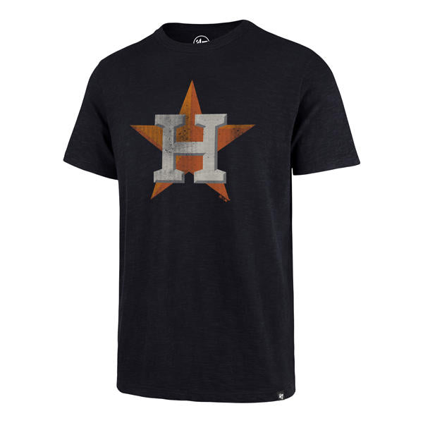 Houston Astros 47 Brand Baseball Vintage Star Scrum T-Shirt - Navy