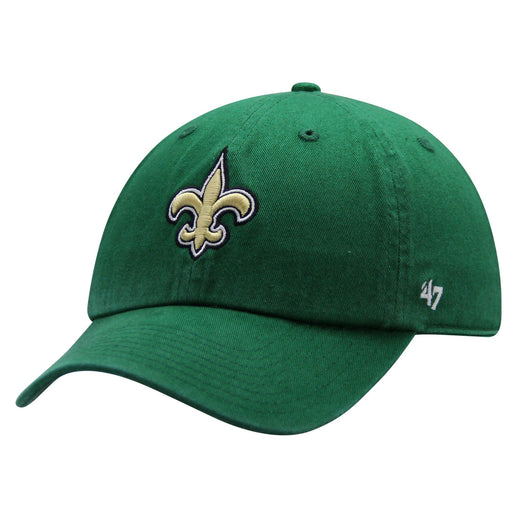 New Orleans Saints 47 Brand Fleur De Lis Clover Clean Up Adjustable Hat - Kelly Green