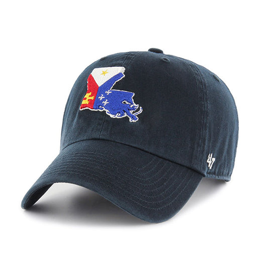 47 Brand Homegrown Acadiana Flag Clean Up Hat - Navy
