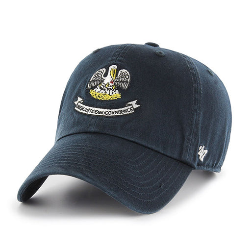 47 Brand Homegrown Louisiana Flag Clean Up Hat - Navy