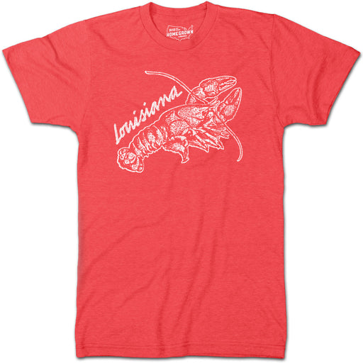 B&B Dry Goods Homegrown Louisiana Crawfish T-Shirt - Red