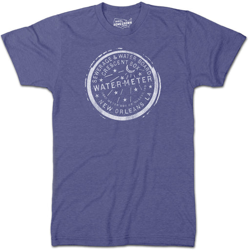 B&B Dry Goods Homegrown Louisiana Nola Water Meter T-Shirt - Deep Navy