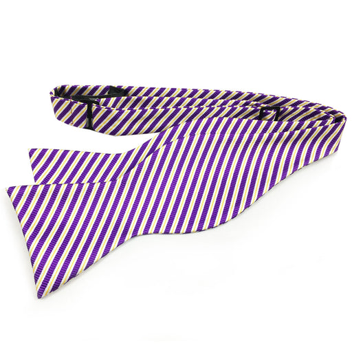 B&B Dry Goods Authentic Thin Stripe Woven Hand Tied Bow Tie