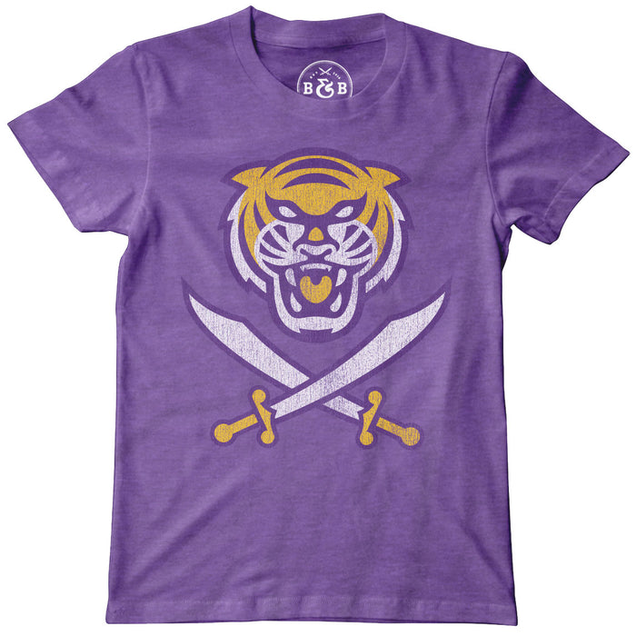 Bengals & Bandits Tri Color Logo Youth T-Shirt - Purple