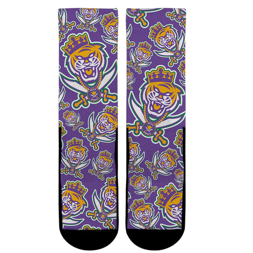 Rock Em Louisiana Homegrown B&B Bead Bandit Mardi Gras Socks