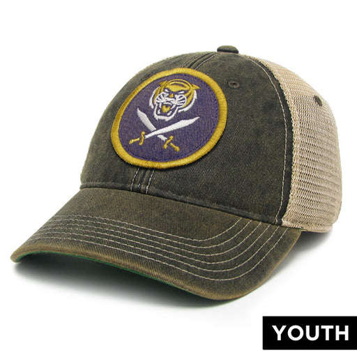 Bengals & Bandits Relaxed OFA Youth Trucker Hat - Black