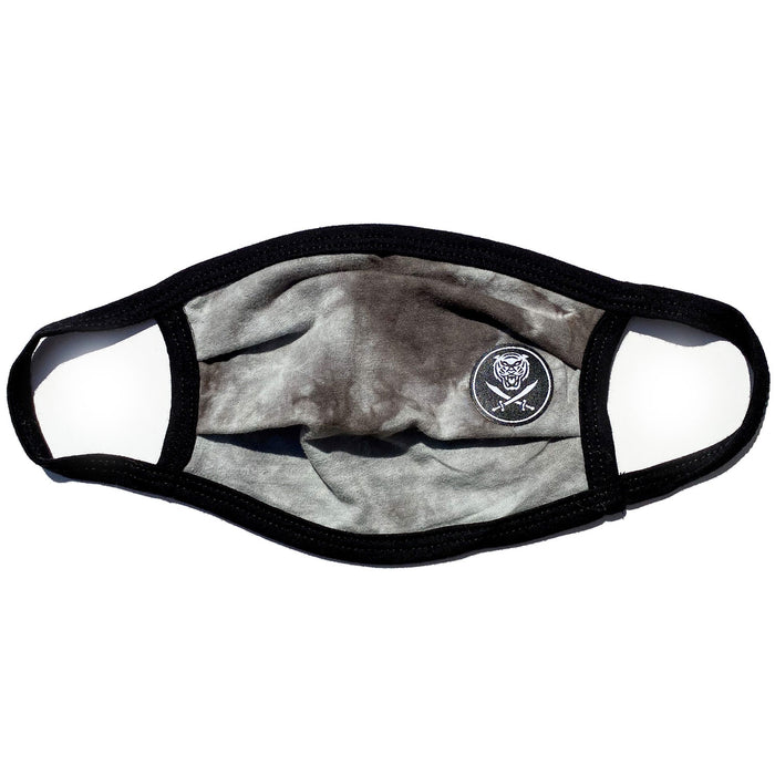 Bengals & Bandits Maverick Resuable Face Mask With Ear Loops - Grey Crystal Wash