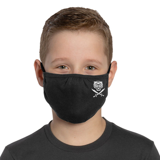 Bengals & Bandits Mini B&B Adjustabe Youth Face Mask With Ear Loops - Black