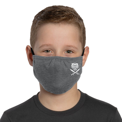 Bengals & Bandits Mini B&B Adjustabe Youth Face Mask With Ear Loops - Charcoal