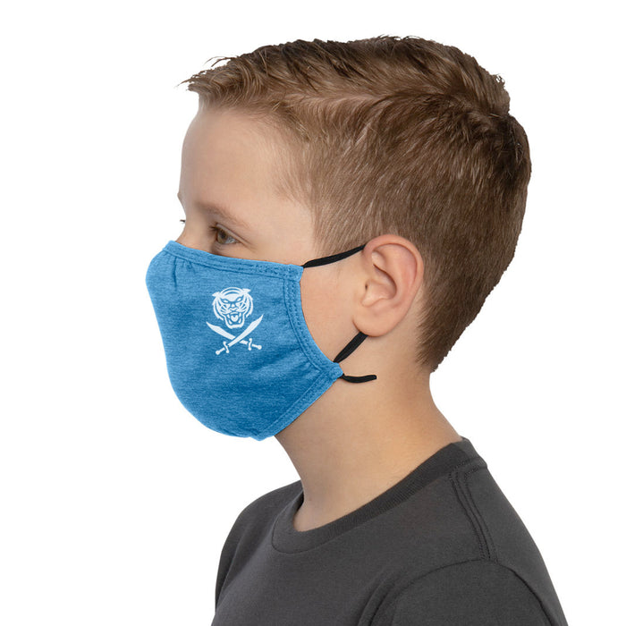 Bengals & Bandits Mini B&B Adjustabe Youth Face Mask With Ear Loops - Royal Blue