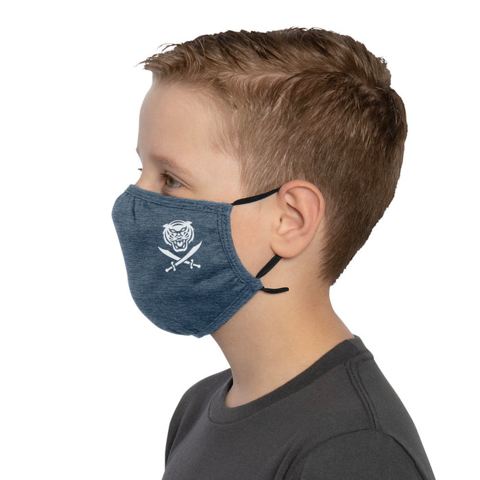 Bengals & Bandits Mini B&B Adjustabe Youth Face Mask With Ear Loops - Navy
